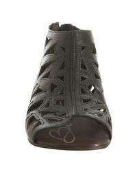 Boutique 9 - Black Cutout Leather Post Flat Sandals - Lyst