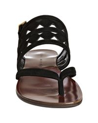 Chie Mihara - Black Suede Wiska Cutout Thong Sandal - Lyst