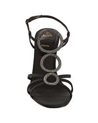 Christian Louboutin - Black Crepe Troisronds 100 Sandals - Lyst