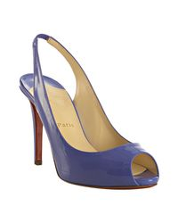 Christian Louboutin | Purple Lavender Patent Lady Sling 100 Peep Toe Slingbacks | Lyst