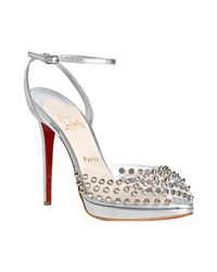 Christian Louboutin | Metallic St Jeanette 120 Peep-toes | Lyst