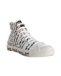Converse | White Printed Canvas Hi-top Sneakers | Lyst