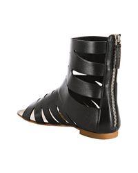 Giuseppe Zanotti - Black Cut-out Leather Gladiator Sandals - Lyst