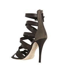 Giuseppe Zanotti - Brown Strappy Leather Buckle Zip Sandals - Lyst