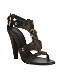 Giuseppe Zanotti | Green Olive Camo Canvas T-strap Sandals | Lyst