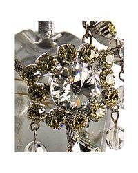 Giuseppe Zanotti - Metallic Silver Leather Jeweled T-strap Sandals - Lyst