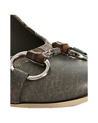 Gucci | Natural Grey Gg Canvas Kitty Cap-toe Pumps | Lyst
