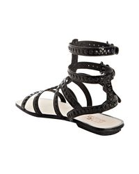 Kors by Michael Kors - Black Studded Patent Yes Gladiator Sandals - Lyst