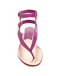Kors by Michael Kors - Pink Cerise Patent Leather Scorpion Gladiator Sandals - Lyst