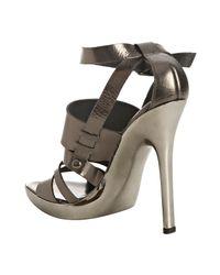 Kors by Michael Kors | Metallic Gunmetal Leather Sage Platform Sandals | Lyst