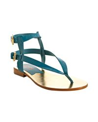 Kors by Michael Kors | Blue Peacock Patent Leather Scorpion Gladiator Sandals | Lyst