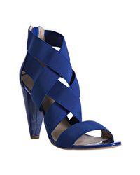 Pour La Victoire | Blue Cobalt Banded Caitlin Strappy Sandals | Lyst