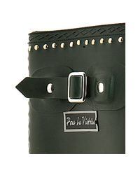 Pour La Victoire   Hunter Green Studded Ted Rubber Rain Boots   Lyst