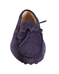 Tod's | Purple Suede Heaven New Driving Moccasins | Lyst