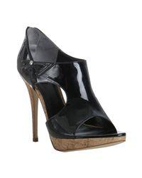 Dior - Black Patent Lolita Cutout Platform Sandals - Lyst