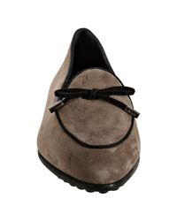 Tod's - Brown Suede Prancy Pointed Loafers - Lyst