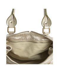 Chloé | Metallic Gold Leather Paddington Small Shoulder Bag | Lyst