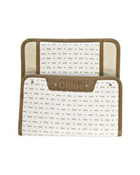 Chloé - White Brown Logo Print Canvas Diaper Bag with Changing Pad - Lyst
