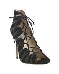 Jimmy Choo | Black Feline Snakeskin Shoe Boots | Lyst