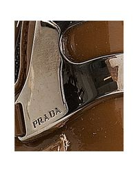 Prada - Brown Brandy Patent Leather Loafer Pumps - Lyst