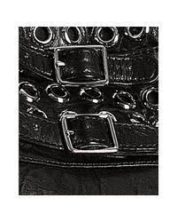 Rebecca Minkoff - Black Leather Grommet Detail Eyelet Devote Hobo - Lyst