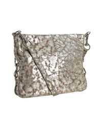 Rebecca Minkoff | Metallic Washed Silver Distressed Leather Mini Rikki Shoulder Bag | Lyst