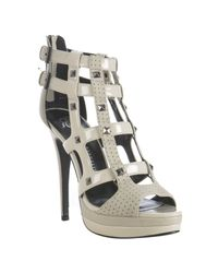 Rock & Republic | White Ivory Patent Syler Studded Cage Sandals | Lyst
