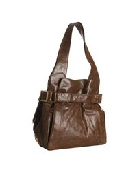 Kooba | Brown Leather Anna Buckle Detail Shoulder Bag | Lyst