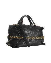 Kooba | Black Leather India Large Studded Satchel | Lyst