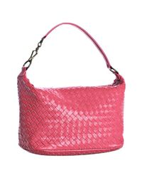 Bottega Veneta | Pink Woven Leather Small Shoulder Bag | Lyst