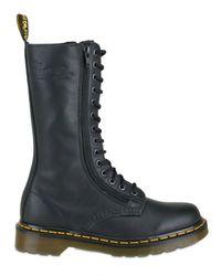 Dr. Martens | Black 14 Eye 2 Zip Boot (women) | Lyst