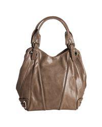 Kooba - Brown Mocha Leather Lindsey Seamed Tote Bag - Lyst