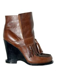 Tata Naka | Brown Leather Wedged Boots | Lyst
