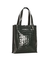 Furla | Green Malachite Croc Embossed Leather Tote | Lyst