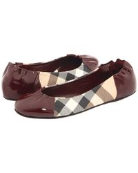 Burberry | Purple Nova Check Soft Ballerina | Lyst