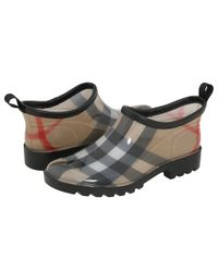 Burberry | Brown Ankle Rain Shoes | Lyst