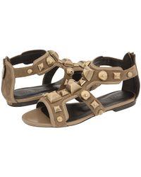 Burberry | Natural Mega Stud Gladiator Sandals | Lyst