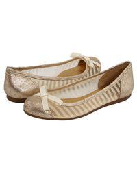 kate spade new york | Jump Metallic Mesh Ballet Flats | Lyst