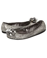 kate spade new york | Jingle Ornament Metallic Scrunchie Ballet Flats | Lyst