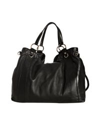 Gucci - Black Leather G Wave Large Tote - Lyst
