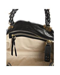 Chloé - Black Lambskin Leather Heloise Tote - Lyst