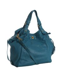 Marc By Marc Jacobs | Blue Peacock Leather Totally Turnlock Francesa Tote | Lyst
