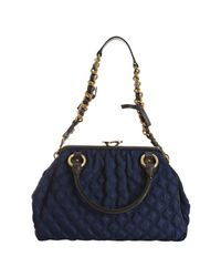 Marc Jacobs | Blue Petrol and Black Quilted Nylon Stam Satchel | Lyst