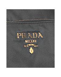 Prada - Gray Slate Nylon Gabardine Patch Pocket Shoulder Bag - Lyst
