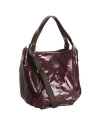 Tod's - Purple Bordeaux Coated Twill G-bag Easy Large Tote - Lyst
