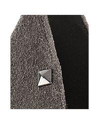 Rock & Republic - Gray Dark Grey Faux Suede Celina Platform Pumps - Lyst