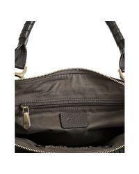 Chloé   Gray Ash Pebbled Calfskin Marcie Shoulder Bag   Lyst