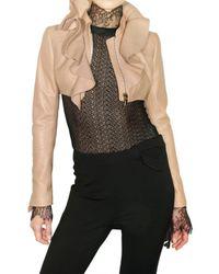 Valentino | Natural Nappa Bolero Leather Jacket | Lyst