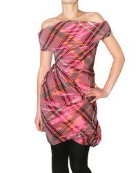 Vivienne Westwood Red Label - Pink Tartan Taffeta Dress - Lyst