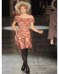 Vivienne Westwood Red Label | Pink Tartan Taffeta Dress | Lyst